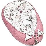 Nido Bebe Recien Nacido - Reductor de Cuna nidos para Bebes cojin colecho Rosa oscuro