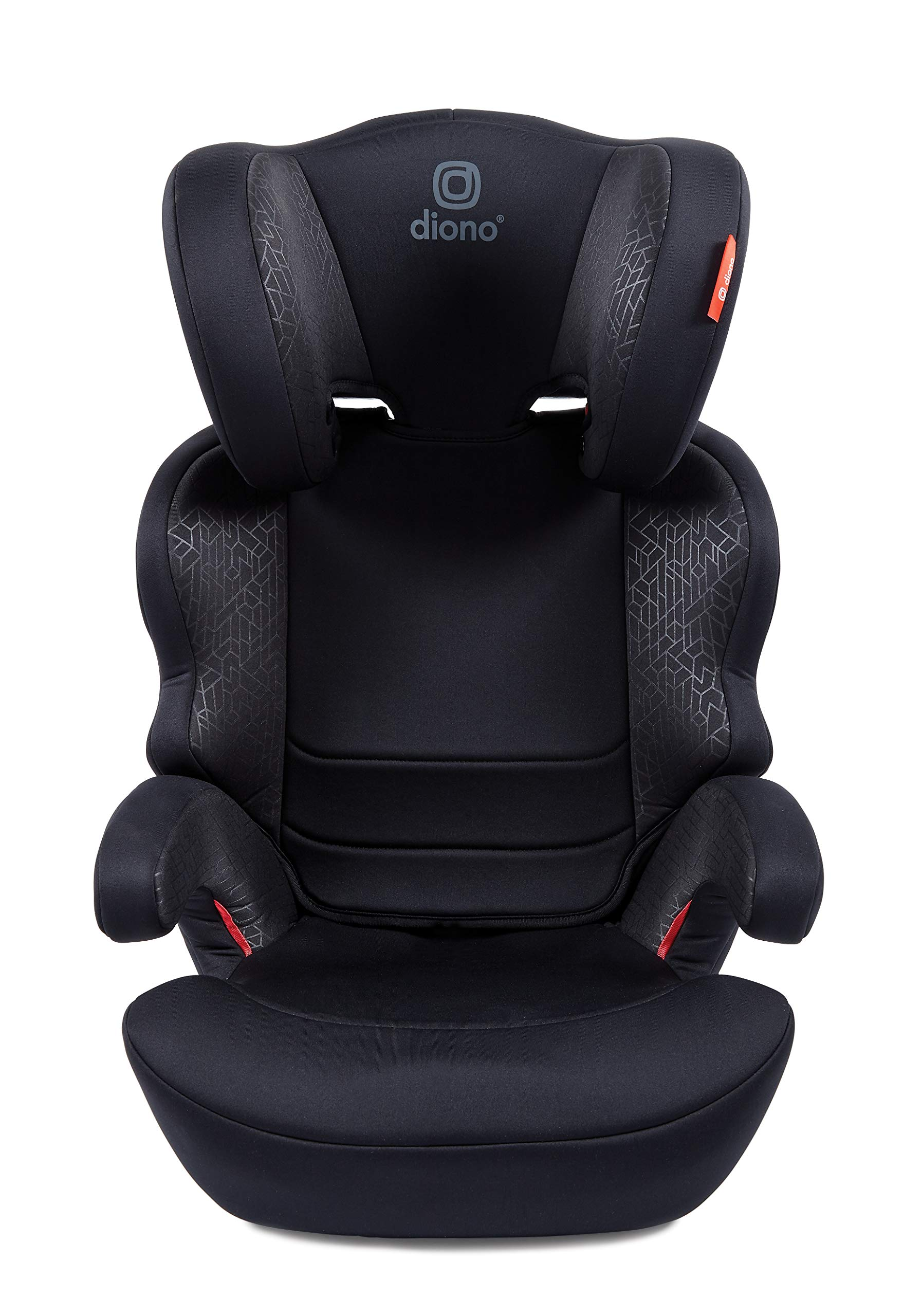 Diono Everett NXT Fix Highback Booster Seat - 7 Position Adjustable Headrest, Group 2/3 (15 - 36 kg and Up to 160 cm In Height), Approx. 4-12 Years, Black Diono Designed to grow: group 2/3 car seat is suitable from 18kg - 50kg, approx. 4 to 12 years old. The 7-position adjustable headrest can be altered using the handle on the back of the seat Superior safety: cushioned side impact protection has been engineered and tested to the highest standards. The ergonomic design includes extra padding to provide comfort and security as a child grows Universal connectivity: parents can install the seat using the vehicle seatbelt or use the integrated rigid latch connectors that anchor the seat to the car allowing the child to buckle themselves in 3