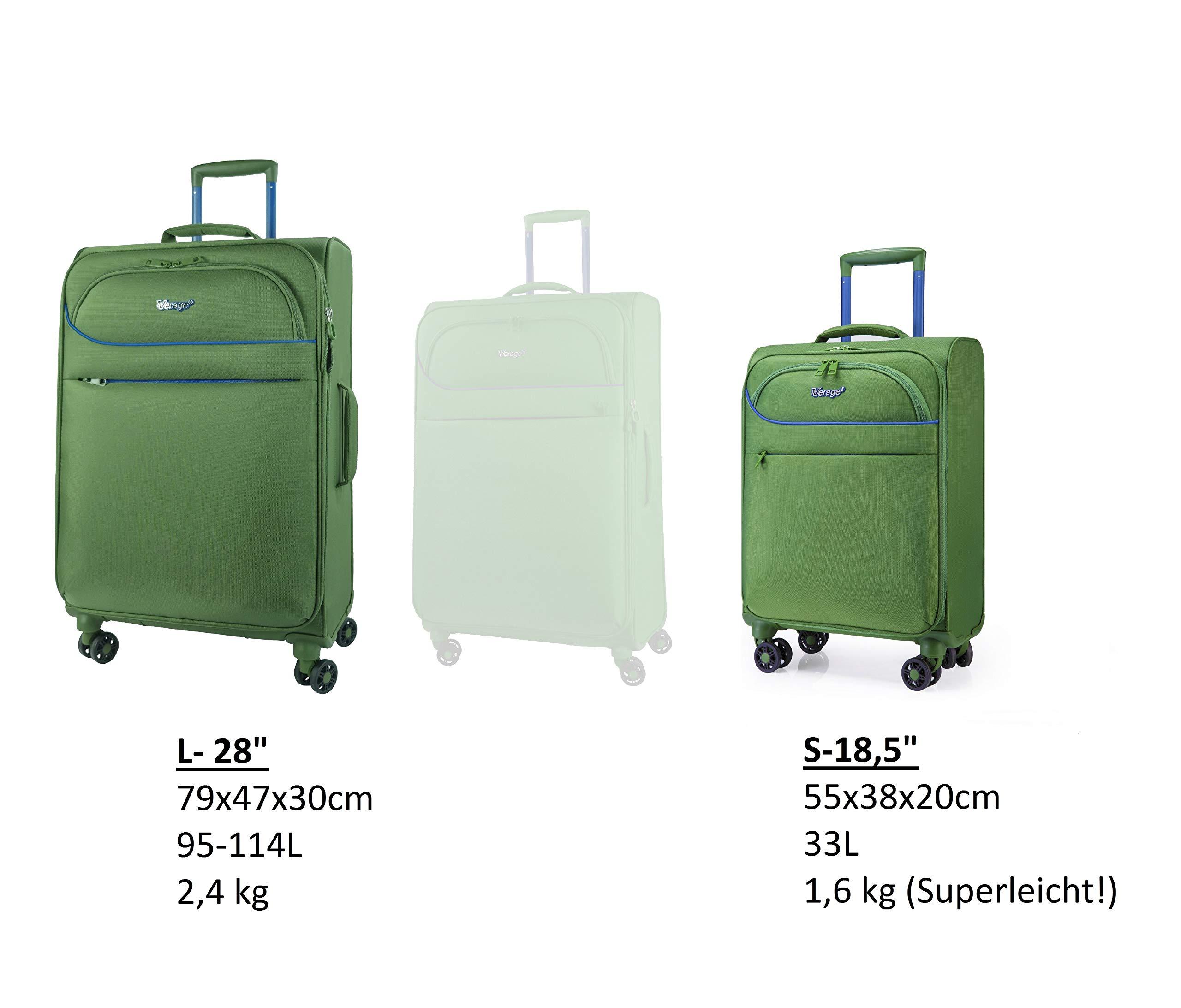 Verage-BREEZE-4-Rollen-Stoff-Trolley-Reisekoffer-Handgepck