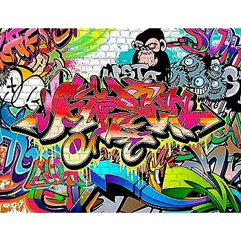 Fototapeten Graffiti Streetart  Cm Vlies Wand Tapete Wohnzimmer Schlafzimmer Buro Flur Dekoration Wandbilder