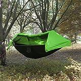 Camping Hamac avec Moustiquaire et housse de pluie - Hamac Suspendu Double avec Abri de Soleil pour Jungle Randonnée Pédestre Jardin Voyage 270x140cm