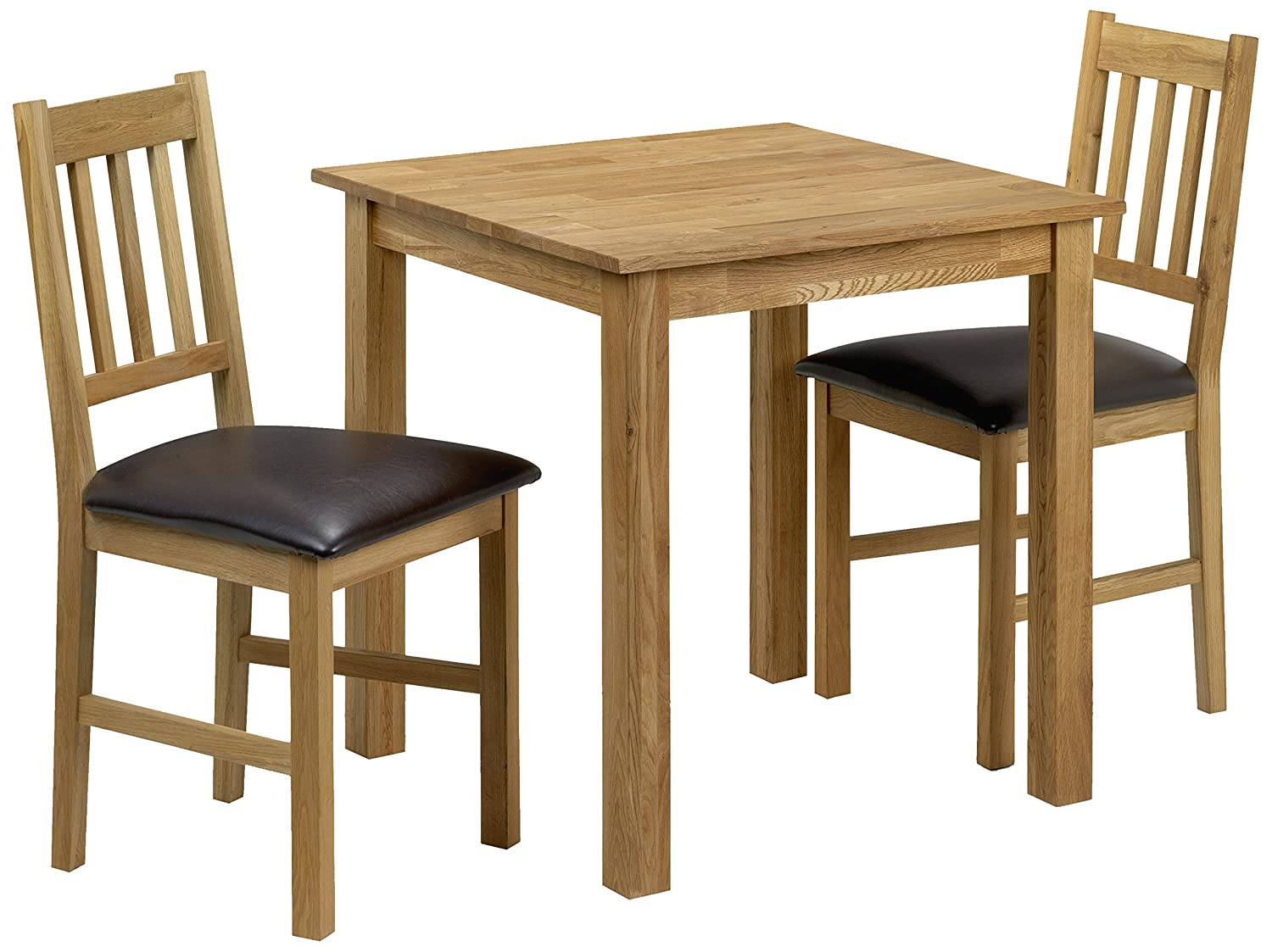dining table with 2 chairs. julian bowen coxmoor square dining table set with 2 chairs, light oak: amazon.co.uk: kitchen \u0026 home chairs