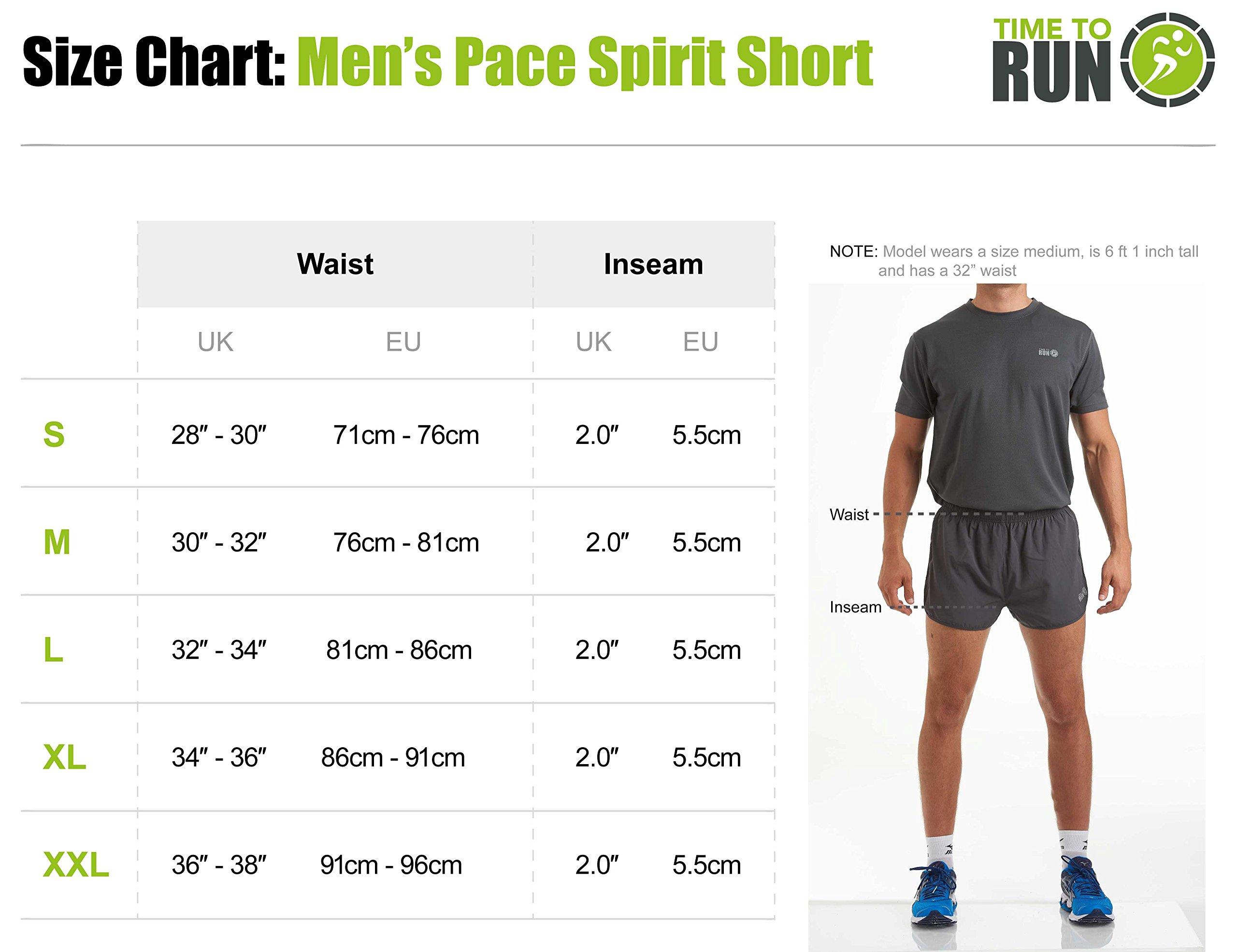Time To Run Pantaloncini da Corsa/Palestra/Allenamento da Uomo Men's Split Pace Spirit con Fodera e Tasca con Cerniera 5 spesavip