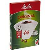Melitta, 40 Filtres à Café, Taille 1x4, Pour Cafetière à Filtre, Original, Blanc