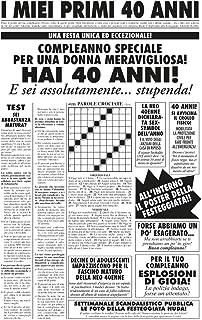 6TN Uomo T-Shirt in Lingua Italiana Prodotta nel 1980 40 Anni di Vita Meravigliosa per Il 40 /° Compleanno