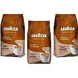 Lavazza Crema e Aroma, Café en Grano, Pack de 3, 3 x 1000g