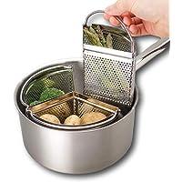 Triplo divisore e divisore per casseruola - Risparmia energia e spazio durante la cottura. Filtro in acciaio…