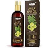 WOW Skin Science Amla Hair Oil - Pure Cold Pressed Indian Gooseberry Oil - Intensive Hair Care - With Comb Applicator - Non-S