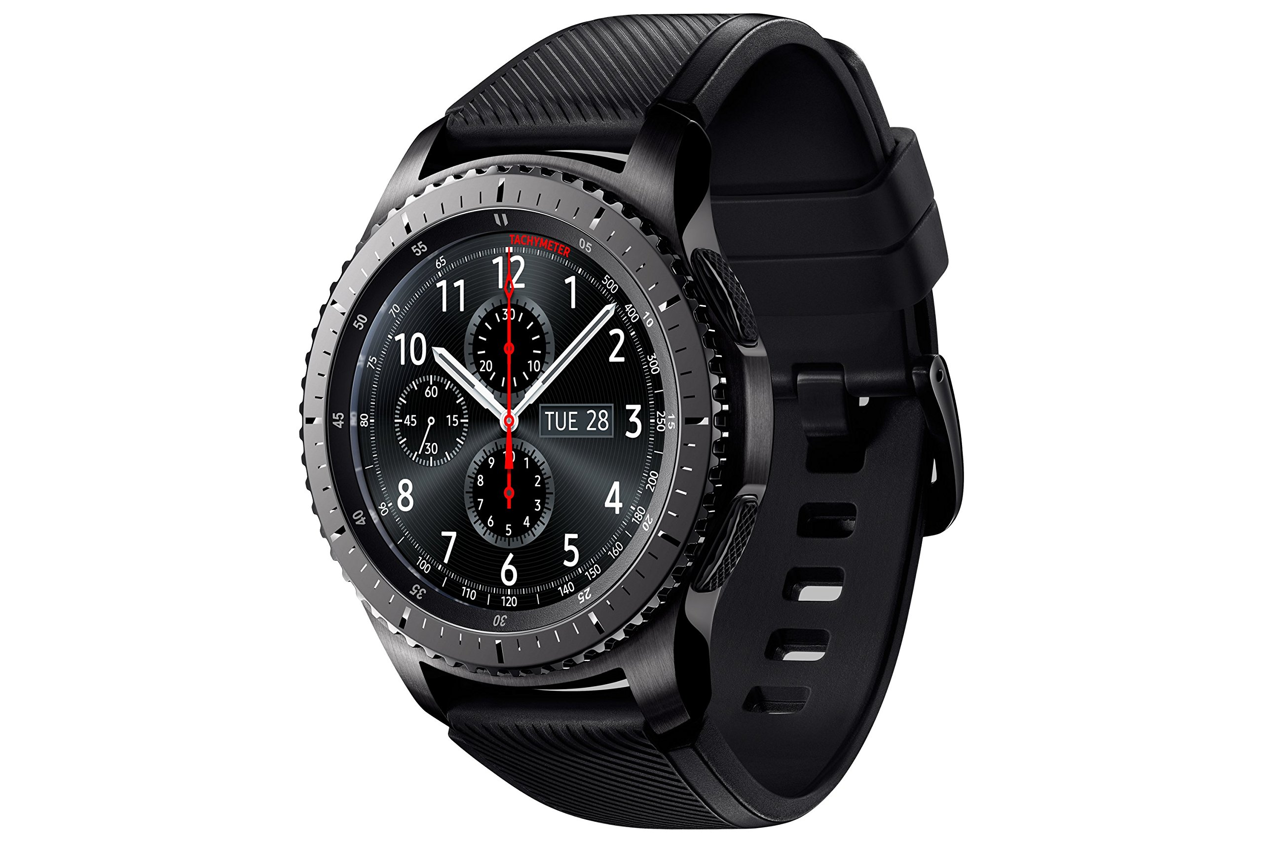 "Samsung Gear S3 Frontier - Smartwatch Tizen (pantalla 1.3"" Super AMOLED 360x360, GPS integrado, batería 380 mAh, altavoz integrado), color Gris (Space Gray)- Version española 6"