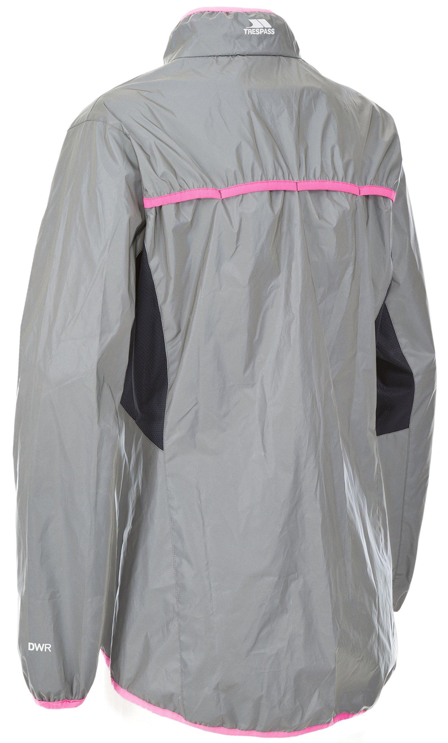 Trespass Women's Lumi Active Windproof and Waterproof Cycling and Running Outdoor Luminous Jacket 2