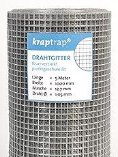 Kraptrap® Volierendraht Käfigdraht Drahtgitter 12x12 Breite 100cm 5m