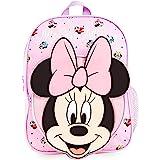 Disney Mochilas Escolares, Material Escolar para Niñas, Mochila Infantil con Minnie Mouse en Diseño 3D, Mochila Rosa de Gran