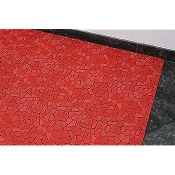 Bad Garten Küche Uni Rot Badvorleger Aquamat Antirutsch Matte