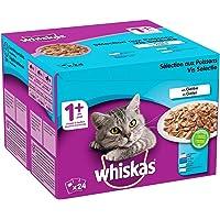 Whiskas Sélection aux Poissons en Gelée – Nourriture humide pour chat adulte – Alimentation complète en sachets…