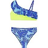 Conjunto de Bikini de Dos Piezas para niñas, Traje de baño con Volantes de Flamenco, Traje de baño Deportivo de Verano para n