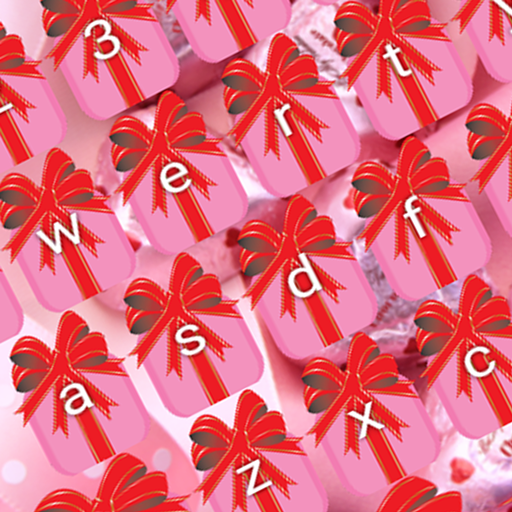 Rosa Valentinstag Tastaturen
