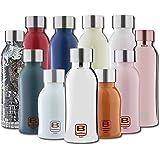 BUGATTI B Bottles Twin Bottiglia Termica 500 ML Color Light Blue Mantiene i liquidi Caldi per 12 H, Freddi per 24 e Il Ghiacc