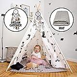 Hakuna Matte Tipi tält för barn – snyggt lektält i en skandinavisk design med lekmatta, drömfångare och bärkasse – barntält b
