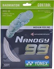 Yonex Nanogy 99 Badminton Strings, 0.69mm (White)