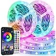Ruban LED 20M RGB 600 LEDs Bande LED Multicolore App Contrôle, Led Ruban avec Télécommande à 40 Touches, Synchroniser avec Ry