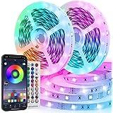 LED Strip, TVLIVE RGB LED Streifen 20m mit 600 LEDs, Farbwechsel LED Lichterkette mit App-Steuerung Fernbedienung 16 Mio. Far