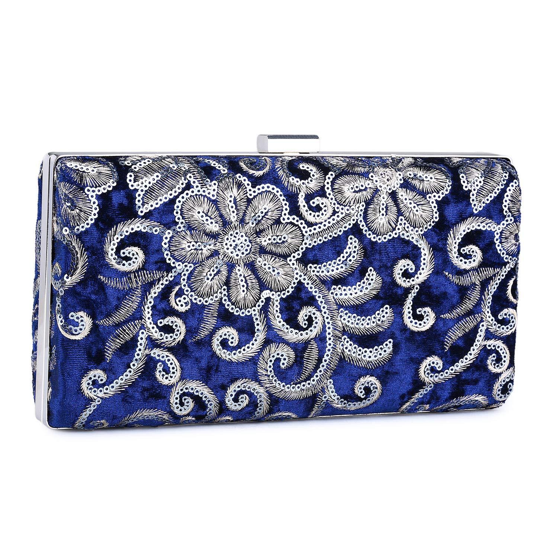 UBORSE Bolso de Fiesta Noche Moda para Mujer Embrague Hard Shell Clutches Elegante Bolso de Hombro Billetera Carteras de Mano del Banquete Boda Señoras