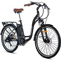 Moma Bikes Unisex-Adult Ebike 26.2 Hydraulic Elektrische Fahrrad VAE zu promenieren, E-26.2, schwarz, Normal