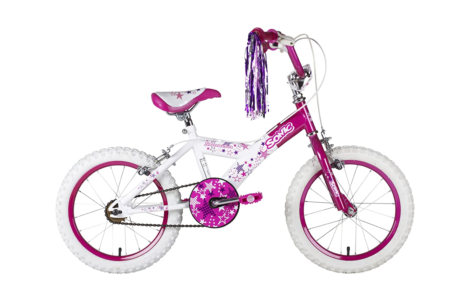 Sonic 16 Glamour Girls Bike White Purple Toys