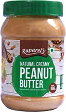 Ruparel's Natural Peanut Butter Creamy with No Added Hydrogenated Oils, Sugar or Salt (800g)