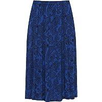 WearAll Plus Womens Paisley Print Midi Skirt Ladies Elasticated Stretch Waist New 8-30