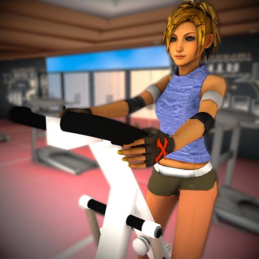 Virtuelles Lebensstil-Fitness-Mädchen: Schlankes Mädchentraining