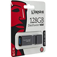 Kingston DataTraveler 100 G3-DT100G3/128GB USB 3.0, PenDrive, 128 GB, 1 Pezzo, Nero