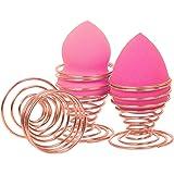 TRIXES 2 Stück RoseGold Ständer för Ihre Make-Up Schwämme aus rostfreier Edelstahl-Draht-Spiralfeder - für Beauty Blender
