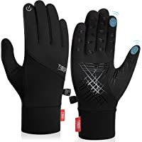 Alaplus Cycling Gloves, Winter Running Gloves Touch Screen Lightweight Gloves Thermal Liner Gloves Men Women for Sports…