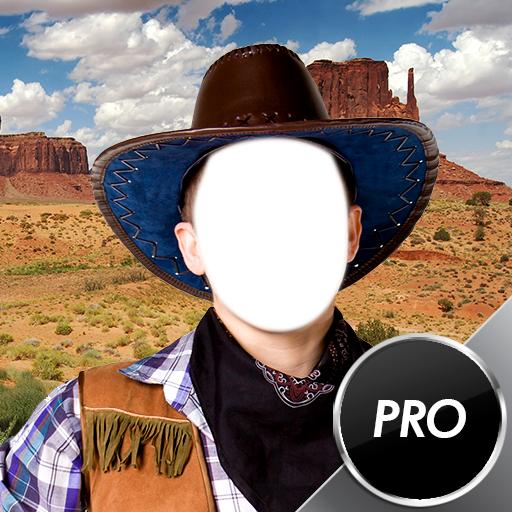 Cowboy-Foto-Montage (Make Kostüme Up Cowgirl)