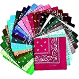 All u need Bandana 4er Set Paisley Muster Scarf Nikki Tuch Kopftuch Cotton 100/% Baumwolle Travel Reisen Schal Headwrap