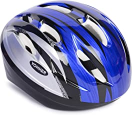 YONKER Cycling Helmet STEP ONE with Adjuster SENIOR SIZE , YS-1412 (Blue/Grey)