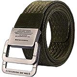MESHIKAIER Unisex Cintura Militari in Tela Uomo Donna Elastica Cintura Outdoor Sport Cintura Fibbia in Metallo