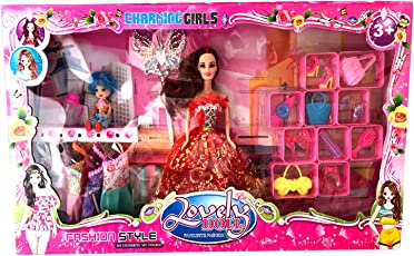 SAISAN Charming Girls Doll (Multicolour)
