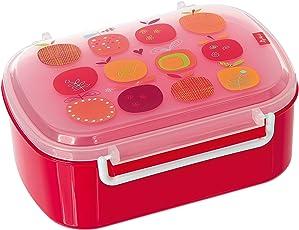 sigikid, Mädchen, Brotdose mit buntem Apfel-Druck, Brotzeitbox Pony sue, Pink, 24738