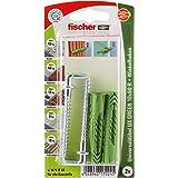 Fischer 520709 10x60 R WH K, inhoud universele pluggen UX Green 10 x 60 R (met rand), 2 x hoekhaken 7 x 77