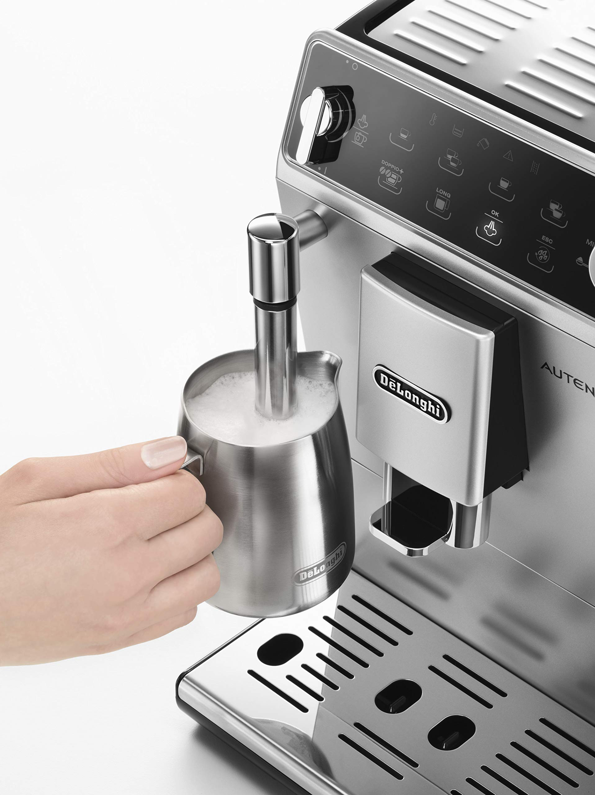 81vlAEGAuxL - De'Longhi Autentica Cappuccino, Fully Automatic Bean to Cup Coffee Machine, Espresso Maker, ETAM29.660.SB, Silver and…