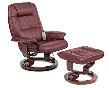 Napoli Recliner Black Massage Heat Chair And Foot Stool: Amazon.co.uk:  Kitchen U0026 Home