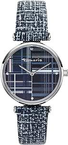 Tamaris Orologio da donna serie Elea con cinturino in pelle in stile vintage, diametro 32 mm e altezza 7,8 mm in diverse combinazioni.
