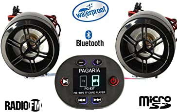 PAGARIA Bike Mp3 Player with Bluetooth & FM Radio (Waterproof)
