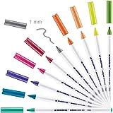 edding 4600 Textilstift - 10 Farben im Set (Fun) - Rundspitze 1 mm - Textilstifte waschmaschinenfest (60 °C) zum Stoff bemale