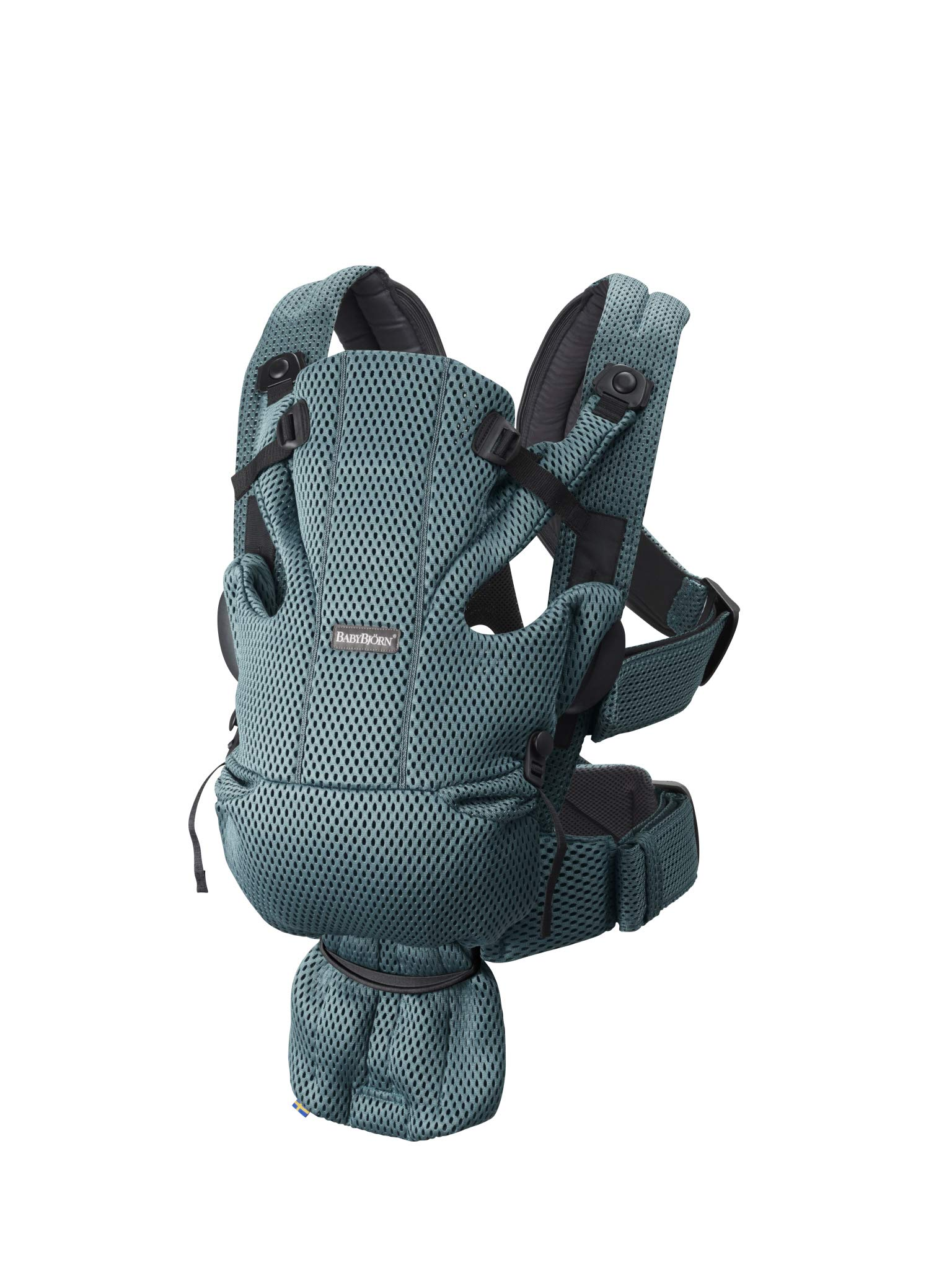 BABYBJÖRN Baby Carrier Move, 3D Mesh, Sage Green Baby Bjorn Excellent comfort with built-in back support and waist belt Easy to put on and take off Soft and airy design in cool 3D mesh 2