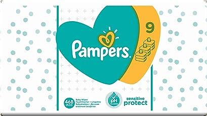 Pampers Sensitive Protect 468 Feuchttücher, 9er Pack (9 x 52 Stück)