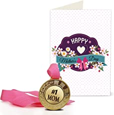 TIED RIBBONS Gift for Mother in Law | Gift for Mothers Day | Mothers Day Gifts | Mothers Day Gifts from Daughter | Greeting Card with Golden Medal