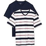 Amazon Essentials 2-Pack Regular-fit V-Neck T-Shirt (Heather Grey HEA)